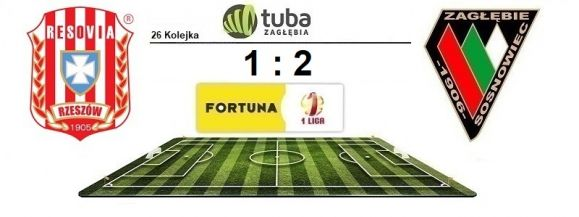 Wygrana Zagłębia z Resovią⚽26 kolejka Fortuna 1 Liga: Apklan Resovia – Zagłębie Sosnowiec 1:2⚽