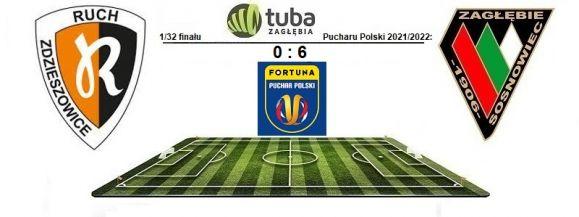 Zagłębie z awansem do 1/16 Pucharu Polski⚽Zagłębie wygrało w Zdzieszowicach⚽Ruch Zdzieszowice – Zagłębie Sosnowiec 0:6 (0:3)⚽