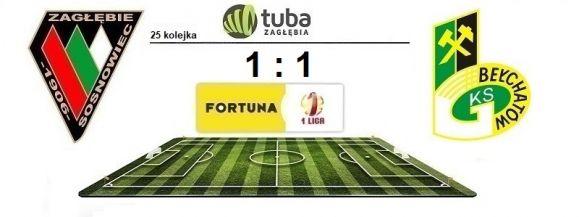 Remis Zagłębia w meczu na dnie tabeli⚽Zagłębie Sosnowiec – GKS Bełchatów 1:1 (1:0)⚽